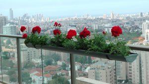 אדנית פרחים למעקה